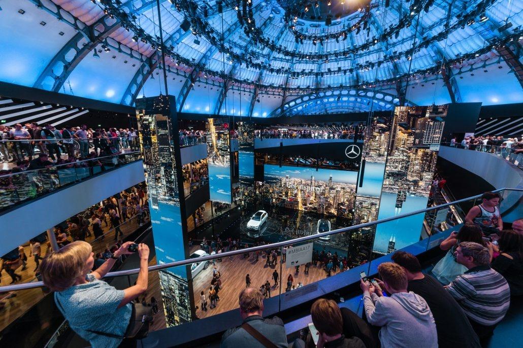 奔驰汽车展厅设计的展厅装修欣赏